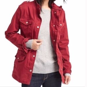 GAP Utility Button Front Red Jacket NWOT